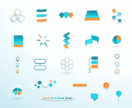Infographic Elements Vector Big Set Business Resources