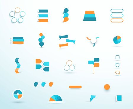 Infographic Elements Vector Big Set Layout Options Ilustrace