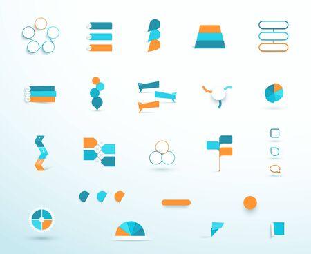 Infographic Elements Vector Big Set Layout Options Illustration