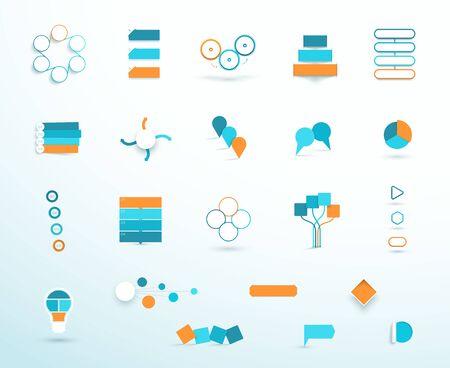 Infographic Elements Vector Big Set Template Options