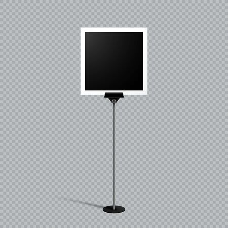Paper Note Photo Frame Stand Text Box Single Black Illustration