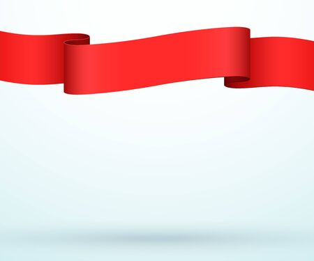 Title Banner 3d Ribbon Strip Full Page Template Vector