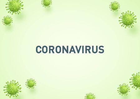 Coronavirus Green 3d Virus Illustration Background