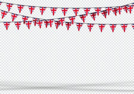 Bunting Hanging Banner UK British Flag Triangle Background