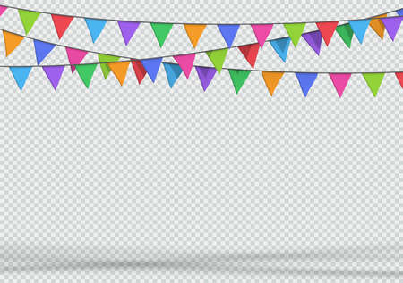 Bunting Party Decoration 3d Hanging Banner Triangle Flags