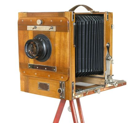 vintage box camera with a wooden body Stock Photo - 2384051