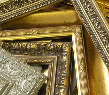 Mehrere Frames reich verziert mit Schmuck und Gold  Standard-Bild - 2384073