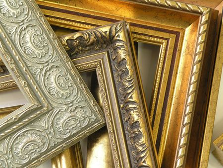 several frames richly decorated with ornament and gold