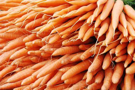 big pile of fresh nice orange carrots                                     Stock Photo - 3432250