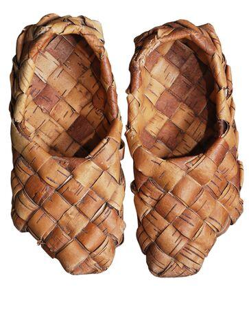 penury: pair of bast shoes