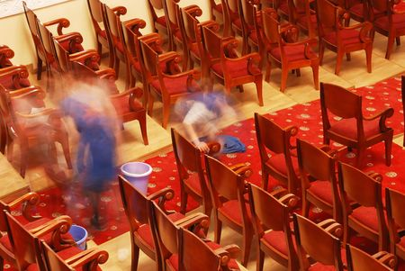 Photograph of the Rows of theatre seats Stock Photo - 6118326
