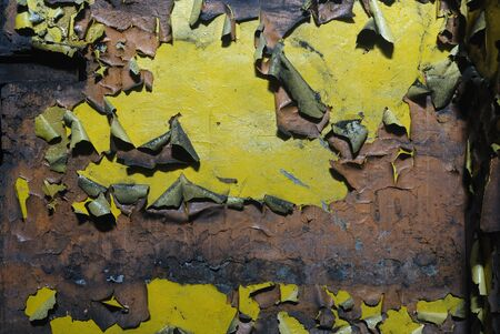 wall of the old shabby paint close-up photo