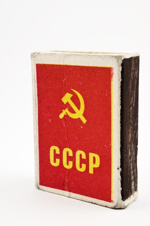 hammer and sickle: box of matches with the inscription USSR , hammer and sickle