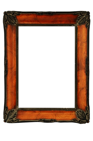 vintage decorated frame in the style of Art Nouveau, isolated photo