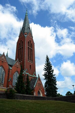 neogothic: Michaels church - a distinguished example of the neogothic style in architecture,Turku, Finland