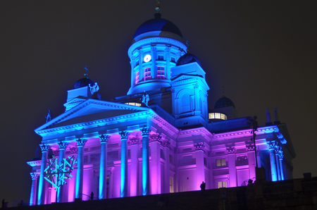 lux: HELSINKI, FINLAND � JANUARY 5, 2014  The Lux Helsinki light event, arranged for the sixth time between 4 and 8 January 2014, brought 150,000 visitors