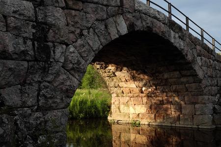 made in finland: old stone arch bridge in Kerava, Finland