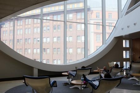 HELSINKI, FINLAND, AUGUST 11, 2015: The Helsinki University Main Library, biggest university library in Finland