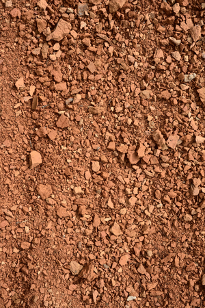 aggregates: close up of small brick chippings, background