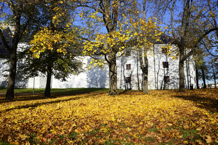 centenary: the medieval castle in Turku in autumn, Finland, Turun linna