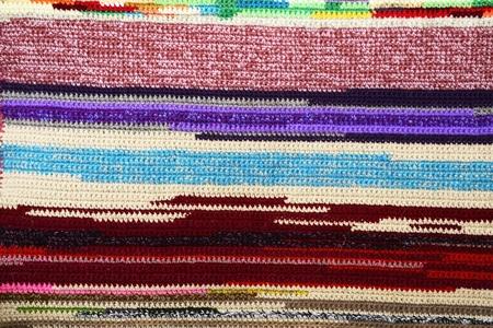 Original texture of a handmade woven runner
