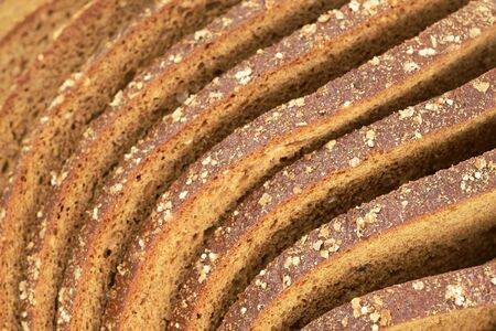 curved slices of bread whole grain rye