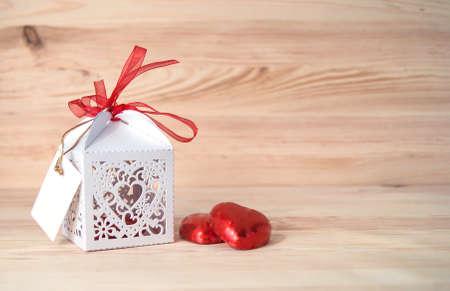 giftbox: giftbox and two chocolates