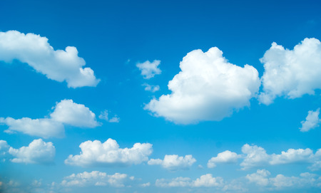 sunny sky: Blue sky with clouds