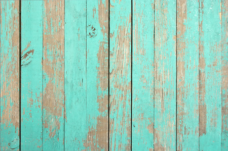 Wooden texture aqua color for the image. Closeup. Stock Photo