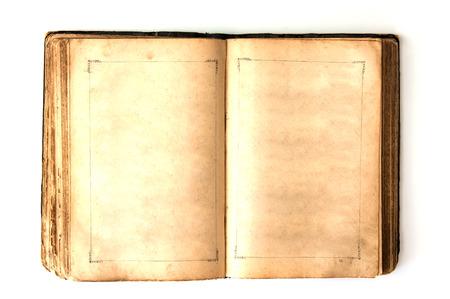 Das alte offene Buch Standard-Bild - 35023020