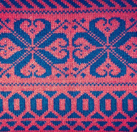 woolen: Knitted woolen background, red texture