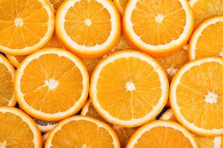 oranje schijfje Stockfoto