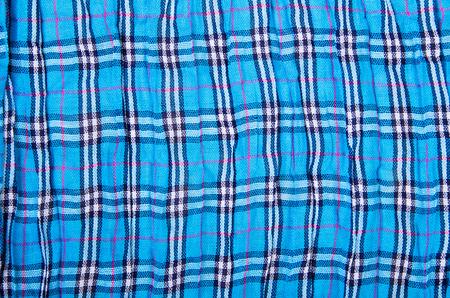 checkered scarf: blue checkered scarf