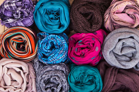 accessories: Accessory - Scarfs - Different Textures And Colors  Accessory - Scarfs