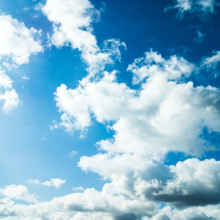 cloudy: blue sky with clouds