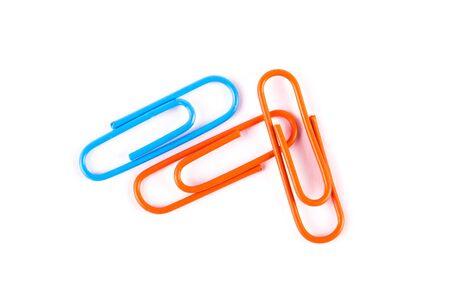 papier couleur: couleur isol�e trombones