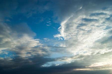 sun sky: beautiful sunset with clouds and sun. sky