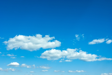 beautiful blue sky with clouds and sun 写真素材
