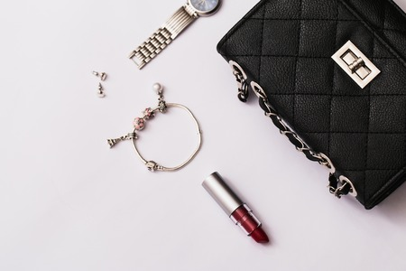 fashion accessories: Fashion accessories on white background