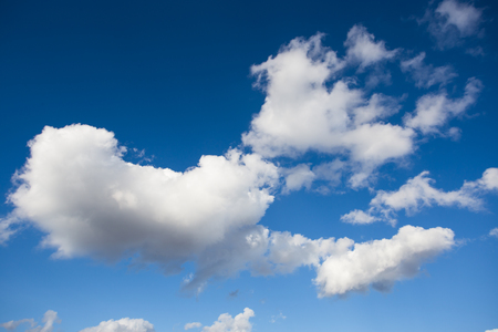 beautiful heaven: blue sky with cloud closeup