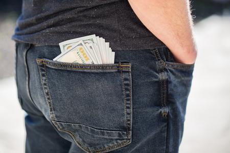 アメリカ ドル紙幣ポケット