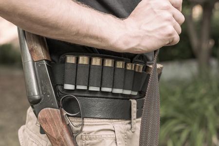 狩猟用ライフルおよびカートリッジ 写真素材