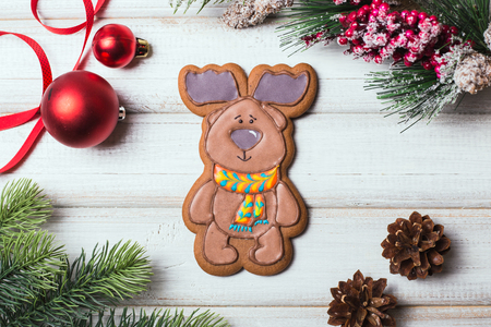 Christmas gingerbread cookies baking background Standard-Bild