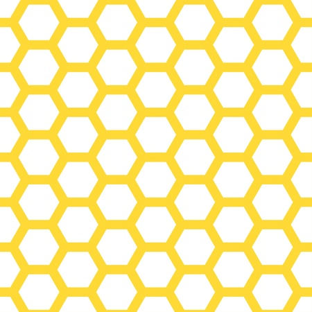 Seamless geometric pattern with honeycombs Illustration