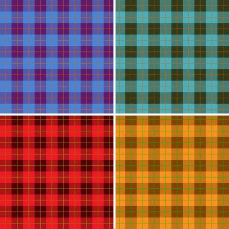Set of lumberjack patterns