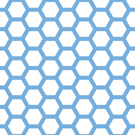 Seamless geometric pattern with honeycombs Ilustracja
