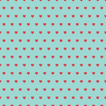 Abstract heart seamless pattern. Illustration