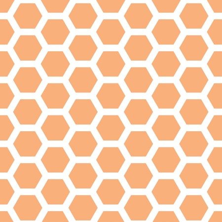 Seamless geometric pattern with honeycombs 矢量图像
