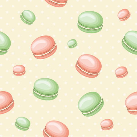 Seamless pattern with macaroons Иллюстрация