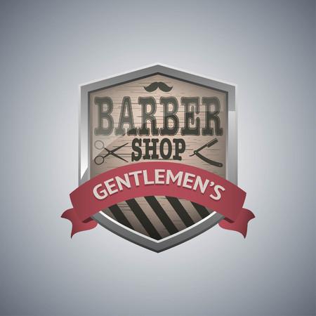 Barber shop vintage design template